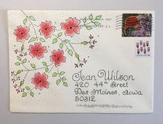 Apr PTEX from RachaelT and Jessica (edit?) (pushing the envelopes) Mail Art Envelopes, Cute Envelopes, Decorated Envelopes, Envelope Lettering, Envelope Art, Envelope Design, Letter Addressing, Addressing Envelopes, Envelopes Decorados
