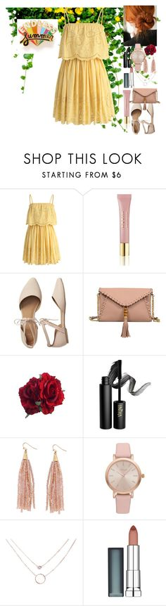 """""""Lily Evens"""" by ava-r-johnson ❤ liked on Polyvore featuring Chicwish, AERIN, Gap, Mellow World, INIKA, Humble Chic, Vivani, Maybelline and ban.do"""