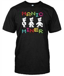 Manic Miner 8-bit gaming T-Shirt for men