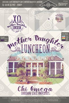Louisiana State University Chi O Mother Daughter Luncheon #BUnlimited #BUonYOU…