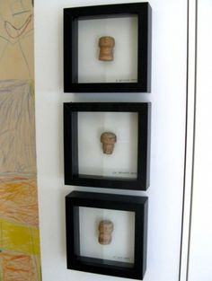 Frame corks from bottles opened for memorable occasions, or maybe just put a few corks from your favorite bottles in a frame.
