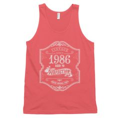 Made in 1986 Aged to perfection Classic tank top (unisex)