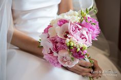 bouquet sposa peonie rosa orchiedee