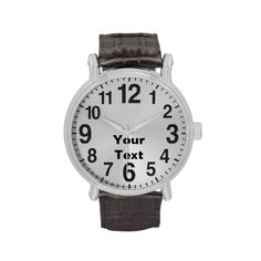 Personalized Large Number Watches for Men