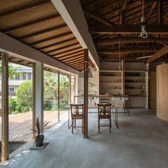 Tato Architects updates a house with a curved plywood interior….The simple gesture created a new space, while the history of the house remained Japanese Architecture, Residential Architecture, Contemporary Architecture, Architecture Design, Japanese Home Design, Traditional Japanese House, Plywood Interior, Plywood Walls, Architects Journal