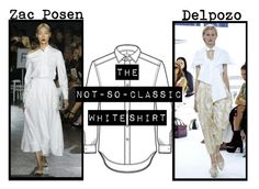 """""""Spring/Summer 2016 Trend; The Not-So-Classic White Shirt"""" by kimearls on Polyvore"""