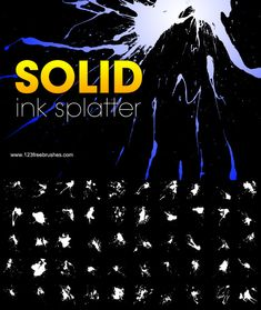 Solid Ink Splatter - Download  Photoshop brush https://www.123freebrushes.com/solid-ink-splatter/ , Published in #GrungeSplatter. More Free Grunge & Splatter Brushes, http://www.123freebrushes.com/free-brushes/grunge-splatter/ | #123freebrushes