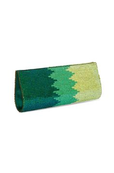 Shades Of Greens Clutch Rs. 1975/- http://www.juvalia.in/collection/cocktail-closet/the-bag-brigade/shades-of-greens-clutch.html