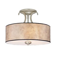 Quoizel Jenna 14-in W Gold Etched Glass Semi-Flush Mount Light   79.00   Alijah's Room