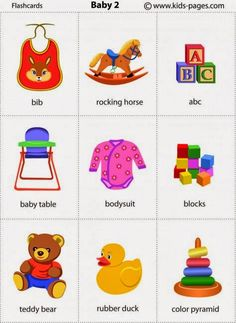 Printable Flashcards for Babies Elegant Baby Items Printable Flash Cards Learning English For Kids, Kids English, English Language Learning, English Class, English Words, English Lessons, Teaching English, Learn English, Kids Learning
