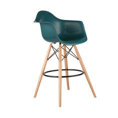 Barstool Arm Chair in Teal | dotandbo.com