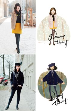 Loving these illustrations by Nancy Zhang! Sooo adorable #fashion #illustration