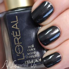 L'Oréal Dark Sides of Grey Nail Swatches and Review
