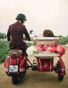 Um Casamento retrô, cheio de personalidade e lindo de viver!!!
