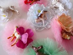 brooches from recycled material