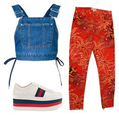 Designer Clothes, Shoes & Bags for Women Overall Shorts, Versace, Overalls, Gucci, Shoe Bag, Polyvore, Pants, Stuff To Buy, Shopping
