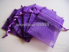 Wholesale MIC 100 Purple 7x9cm Organza Jewelry Gift Pouch Bags For Wedding favors,beads,jewelry 13022703, Free shipping, $0.11-0.13/Piece | DHgate