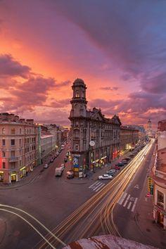 St. Petersburg street corner in