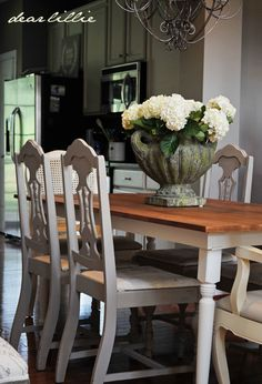 chairs and farmhouse table