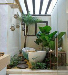 Outdoor zen bathtub---♥ it or leave it?  #bathtub #bathroom #outdoor #home