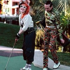 Cyndi Lauper and Pee Wee Herman. What ever happened to poor old Pee Wee Herman? Pee Wee Herman, Cyndi Lauper, Norman Rockwell, Beautiful Celebrities, Beautiful People, Paul Reubens, Famous Faces, New Wave, Celebrity Photos