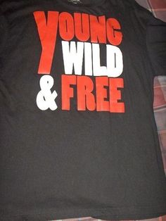 ESMX MENS BLACK COTTON SIZE 3XL T-SHIRT (YOUNG WILD FREE)  #Unbranded #PersonalizedTee
