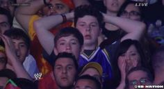 Shocked fans Wrestlemania 30, Undertaker, Wrestling, Humor, Sports, Fans, Lucha Libre, Hs Sports, Humour