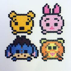 Winnie the Pooh Tsum Tsum perler beads by the_perlair