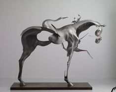 Horse Sculpture by Unmask by Artists Liu Zhan, Kuang Jun, and Tan Tianwei
