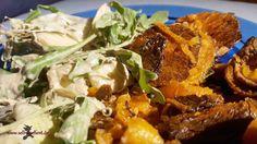 Was koche ich heute? Süßkartoffel an Wintersalat – Einfach selbstgehext!