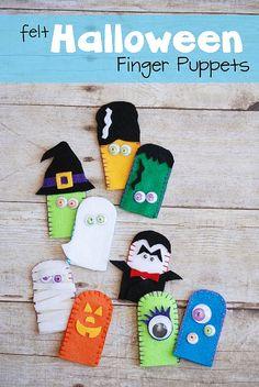 Felt Halloween Finger Puppets