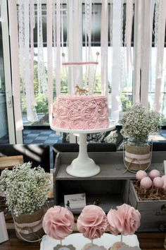 This is beautiful!  Love the ribbon background, burlap and light pink.
