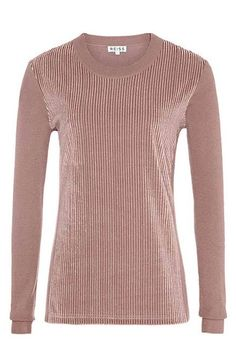 A beautiful simple top. Very elegant and easy to wear it out all season!! Reiss Harpa Velvet Jumper, $180; reiss.com