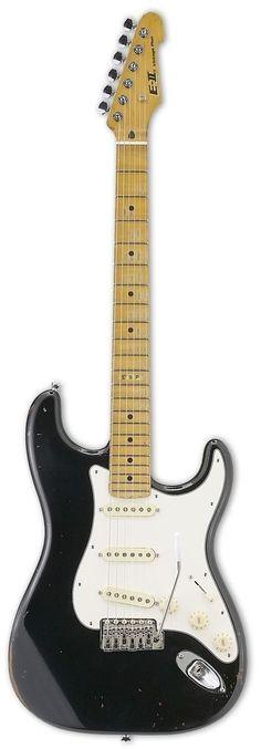 ESP E-II VINTAGE PLUS Distressed Electric Guitar www.guitaristica.org #electricguitar #guitars #guitaristica