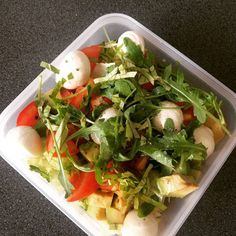 #fresh salad with #tomato #mozzarella ball and #rocket salad for a sunny day out