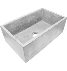 Farmhouse Concrete Sink, Dark Grey