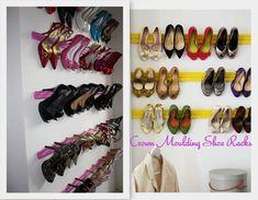 Crown Moulding Shoe Rack 1 1024x798 My Dream Closet   Vision Board