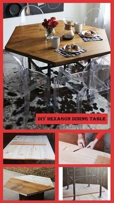 DIY Hexagon Dining Table - DIY Ideas 4 Home