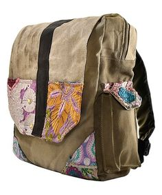 Look at this #zulilyfind! Patch & Recycled Military Tent Backpack #zulilyfinds