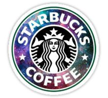 galaxy starbucks Sticker
