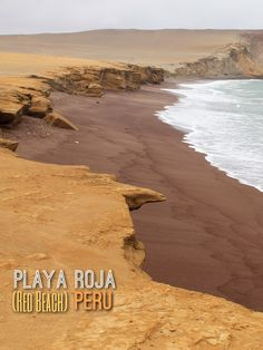 Playa Roja (red beach) in Paracas, Peru. We did a day trip to the Ballestas Islands and Paracas Natural Reserve - don't miss it next time you're in Peru!