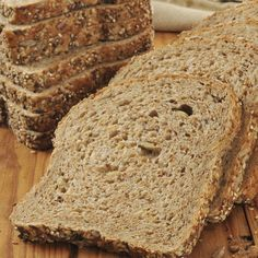 A healthy whole grain bread recipe. This recipe makes two delicious hearty loaves.. Whole Grain Bread Recipe from Grandmothers Kitchen.