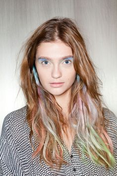 Interesting color placement in the eyes - I'm not in love with this look, but it is inspiring!
