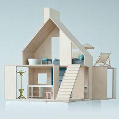 Cette maison de poupées design et décorative fera la joie de votre enfant et de votre déco ! Voilà un superbe objet qui n'enlèvera rien au style de votre intérieur. Spacieuse, cette maison est composée de quatre éléments que l'on peut agencer librement, horizontalement.Composée de deux niveaux, cette maison est un peu celle dont on rêve tous, décorée avec beaucoup de goût, utilisant des tonalités douces et contemporaines, et prêtant une attention particulière aux détails et aux finitions…