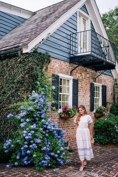Gal Meets Glam A Cotton Dress For Summer - LoveShackFancy dress, Aquazzura x de Gournay loafers & Mark Cross bag