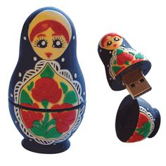 Matryoshka dolls available in flash drive form!