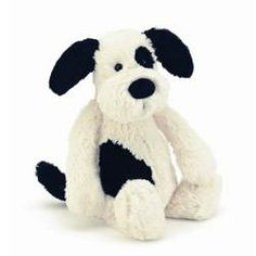 Jellycat Bashful Black and Cream Puppy Med (BAS3BCP) | Jelly Cat Toys http://www.lambland.co.uk/item/2918/jellycat-bashful-black-and-cream-puppy--31cm--bas3bcp--