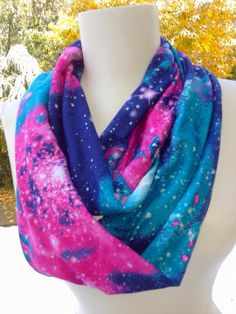 Outer space Infinity Scarves Teen fashion scarf dr by Phatcatpatch, $18.49