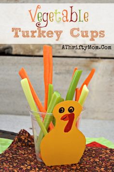 Vegetable Turkey Cups a quick and healthy treat for Fall and Thanksgiving parties, Kids Snack Ideas, healthy partie ideas