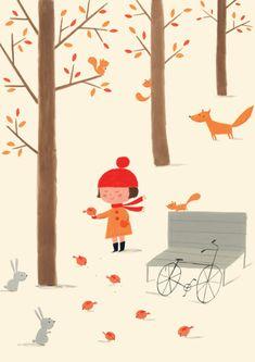 Ekaterina Trukhan es originaria de Rusia pero vive en Londres, donde ilustra estas escenas con tanto encanto.